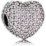 Smycken Pandora Pink Pave Open My Heart Sterling Silver Charm w. Pink Cubic Zirconia (791427PCZ)