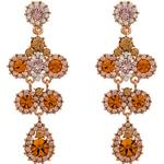 Långa örhängen Lily and Rose Miss Kate Tin Earrings w. Swarovski Crystals/Topaz - 6.2cm