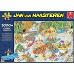 Klassiska Pussel Jumbo Wild Water Rafting 3000 Pieces