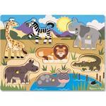 Knoppussel Melissa & Doug Safari Peg Puzzle 7 Pieces