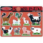 Knoppussel Melissa & Doug Farm Animals Sound Puzzle 8 Pieces