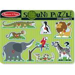 Knoppussel Melissa Zoo Animals Sound Puzzle 8 Pieces