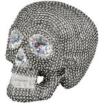 Skelett Skeleton Skull Glitter Decoration Silver