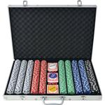 Sällskapsspel vidaXL Pokerset med 1000 Marker