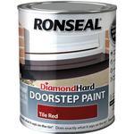 Satin Paint Ronseal Diamond Hard Doorstep Concrete Paint Red 0.25L