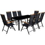 vidaXL 41735 1 Table incl. 8 Chairs Matgrupp , 1 Bord inkl. 8 Stolar