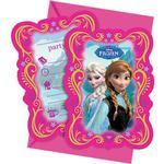 Inbjudningar Disney Frozen Invites Pink 6-pack