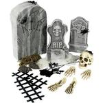 Skelett Smiffys Decor Graveyard Collection 24-pieces