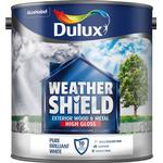 Outdoor paint Dulux Weathershield Exterior Wood Paint, Metal Paint White 2.5L
