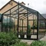 Fristående växthus Skånska Byggvaror Oas Master 14.2m² Aluminium Säkerhetsglas