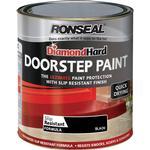 Satin Paint Ronseal Diamond Hard DoorStep Concrete Paint Black 0.75L