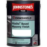 Cement Paint Johnstone's Trade Stormshield Pliolite Based Masonry Finish Cement Paint Beige 5L