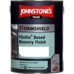 Cement Paint Johnstone's Trade Stormshield Pliolite Based Masonry Finish Cement Paint White 5L