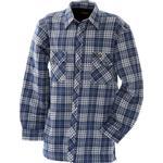 Herrkläder Blakläder Lined Flannel Shirt - Cornflower Blue/Navy