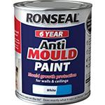 Paint Ronseal Anti Mould Wall Paint, Ceiling Paint White 0.75L