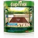 Paint Cuprinol Anti Slip Decking Woodstain Brown 2.5L