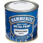 Målarfärg Hammerite Direct to Rust Smooth Effect Metallfärger Vit 0.25L