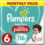 Pampers Baby Dry Pants Size 6