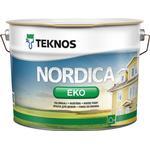 Målarfärg Teknos Nordica EKO Träfärg Vit 9L