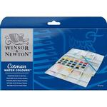 Färger Winsor & Newton Cotman Water Colours Painting Plus 24 Half Pans