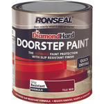 Satin Paint Ronseal Diamond Hard DoorStep Concrete Paint Red 0.75L
