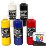 Textilfärg Textile Color Paint Basic Primary Colours 5x500ml