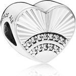 Smycken Pandora Fan of Love Silver Charm w. Cubic Zirconia (797288CZ)