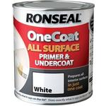 Paint Ronseal One Coat All Surface Primer & Undercoat Wood Paint, Metal Paint White 0.75L