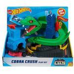 Toy Car Mattel Hot Wheels City Cobra Crush Play Set