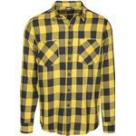 Skjortor Herrkläder Urban Classics Checked Flanell Shirt - Black/Honey