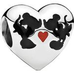 Smycken Pandora Disney Mickey & Minnie Kiss Silver Charm (791443ENMX)