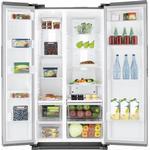 Kylskåp och frys side by side Kylfrysar Samsung SBS7020 Silver