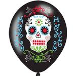 Latexballonger Amscan Latex Ballon Day of the Dead 6-pack