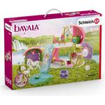 Schleich Glittering Flower House with Unicorns Lake & Stable 42445