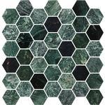 Bricmate U Hexagon Medium Green Marble Polished 34311 5x5cm