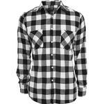 Skjortor Herrkläder Urban Classics Checked Flannel Shirt - Black/White