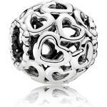 Smycken Pandora Openwork Heart Silver Charm (790964)