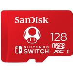 Minneskort SanDisk Nintendo Switch Red microSDXC Class 10 UHS-I U3 100/90MB/s 128GB