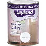 Paint Leyland Trade Quick Dry Satin Wood Paint, Metal Paint White 1.25L