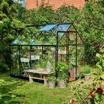 Härdat Glas - Fristående växthus Halls Qube 68 5.1m² 3mm Aluminium Glas, Härdat glas