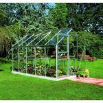 Härdat Glas - Fristående växthus Halls Qube 66 3.8m² 3mm Aluminium Glas, Härdat glas
