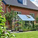 Härdat Glas - Fristående växthus Halls Qube 610 6.4m² 3mm Aluminium Glas, Härdat glas