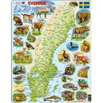 Sverige pussel Larsen Sweden Physical Animals 71 Pieces