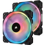 140 fläkt rgb Datorkylning Corsair LL140 Dual Light Loop LED RGB 140mm Two Pack