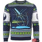 Numskull Star Wars X-Wing Battle of Yavin Christmas Jumper Unisex - Blue