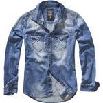 Jeansskjortor Herrkläder Brandit Riley Denim Shirt - Denim Blue