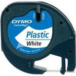 Kontorsmaterial Dymo LetraTag White Plastic Label 12mmx4m