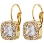 Ringörhängen Edblad Marion Stainless Steel Gold Plated Earrings w. Cubic Zirconium (111042)