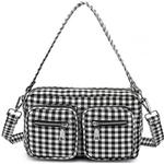 Handväskor Noella Celina Crossover Bag - Black/White Checkered