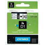 Kontorsmaterial Dymo D1 Black On White Tape 12mmx7m